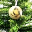 PAPÍRGÖMB SZETT CINKE MOTÍVUMMAL - függeszthető dekor - karácsonyfadísz