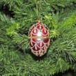 Exclusive glass red egg - openable decoration