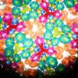 Kaleidoszkóp színes mintás fém házban forgatható véggel