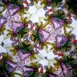 Pompás virágok  réz fóliás kaleidoszkóp  19 cm