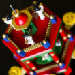Coloured Wooden Christmas Pyramid - 2 levels