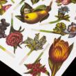 Virágkötő/virágcsokor rendező - reprint antik papírjáték