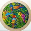 Birds - round wooden puzzle with 16 parts