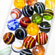 Stripy and dotted marbles set - 20mm 20pcs