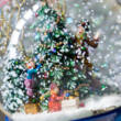 Karácsonyfa díszítés - zenélő hógömb