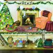 Christmas tree - musical jewellery box