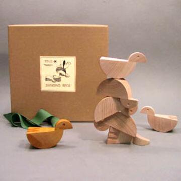 Madárkák - Különleges fa design építő és társasjáték
