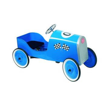 Pedálos versenyautó - kék színben
