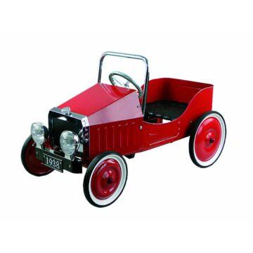 Oldtimer pedálos autó  piros színben