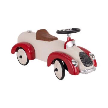 Ráülős retro krém-piros autó