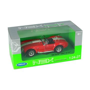 SHELBY COBRA 427 S/C  -1965 -  piros , 1:24   - sebességmániásoknak