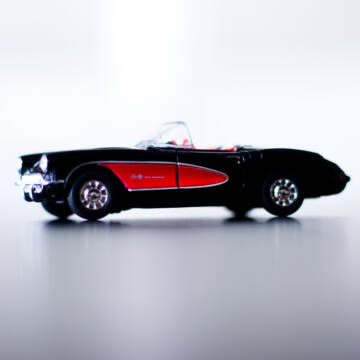 Chevrolet Corvette Coupé 1957  Fekete 11,5cm