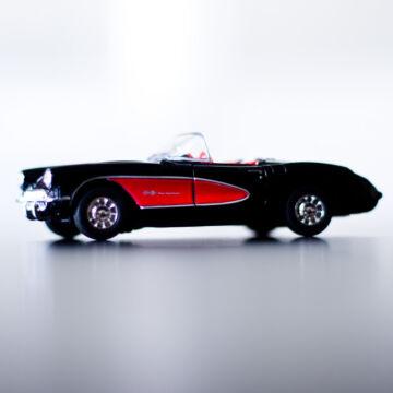 Chevrolet Corvette Coupé 1957  Fekete 11,5cm