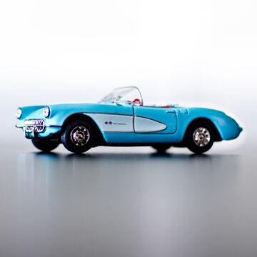 Chevrolet Corvette Coupé 1957  Kék 11,5cm