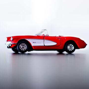 Chevrolet Corvette Coupé 1957  Piros 11,5cm