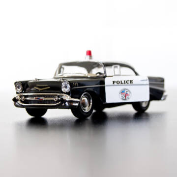 Chevrolet Bel Air rendőrautó  modellutó 1:40