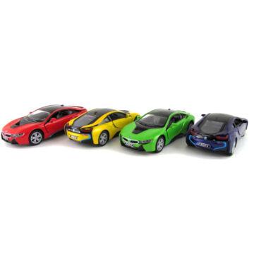 BMW i8   piros,sárga,zöld és ibolyakék  karosszériával     1:36