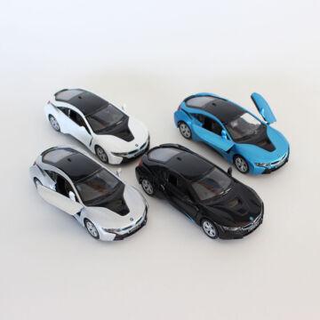 BMW i8   - fehér, fekete és kék  karosszériával  -   1:36