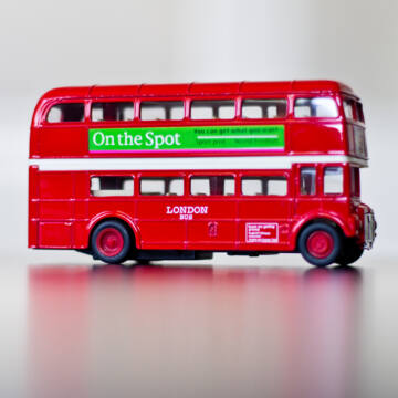 London busz  modellautó 1:34