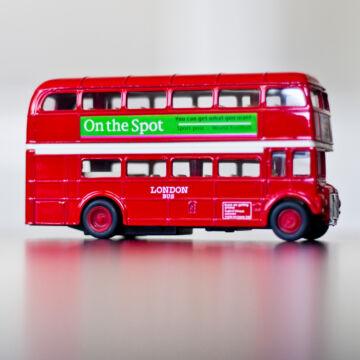 London busz  modellautó 1:34