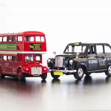London busz és taxi  modellautó szett 1:34