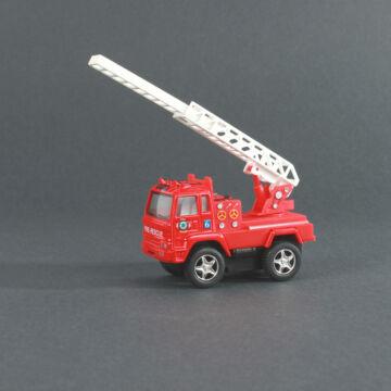 Létrás tűzoltóautó - játékautó 8,5 cm - baráti áron