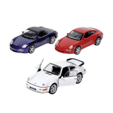 Porsche 911 turbó modellautó 3 féle színben 1:34-39