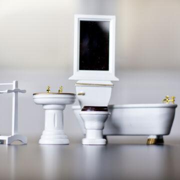 Fürdőszoba bútor - babaház kellék