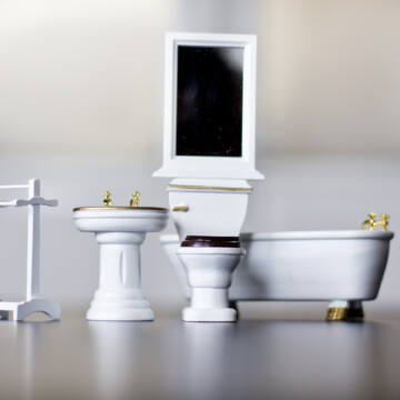 Fürdőszoba bútor  babaház kellék