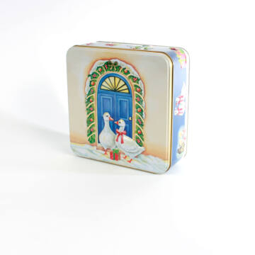 Libás lemez doboz - négyzetes