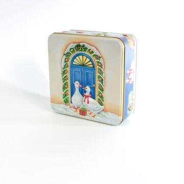 Libás lemez doboz  négyzetes