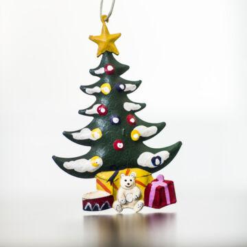 Fenyőfa  akasztható  lemez dekoráció