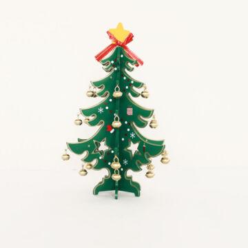 Összeépíthető karácsonyfa fából  25 cmes