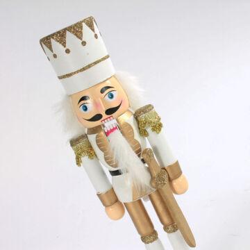 Diótörő király arany/fehér - karácsonyi pompában 25 cm