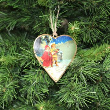 Szív (10,5 cm)  Karácsonyfadísz