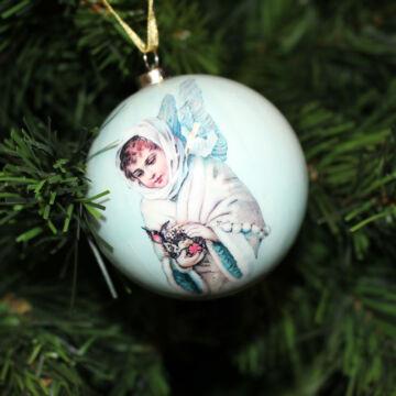 Angyalos gömb - Karácsonyfadísz