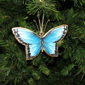 Kék Lepke  függeszthető dekor 15 cm