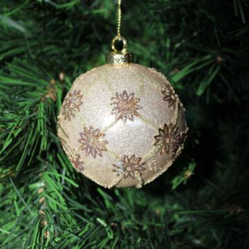Arany gömb  karácsonyfadísz