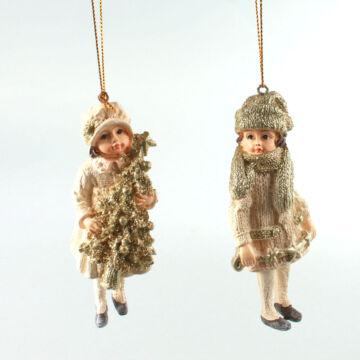 Lányok fenyővel szett  akasztható dekor