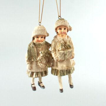 Lányok koszorúval szett - függeszthető dekor