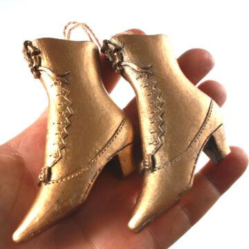 Arany cipők  karácsonyfadísz