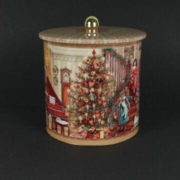 Karácsonyi süteményes doboz, aromazáró fedéllel