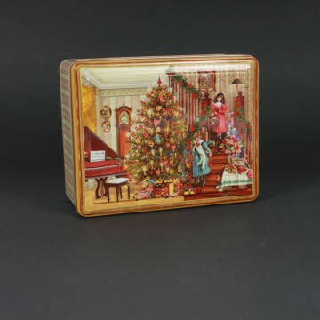 Zeneszoba  karácsonyi fémdoboz