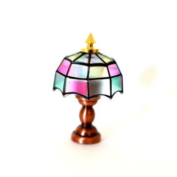 Tiffany lámpa babaházba