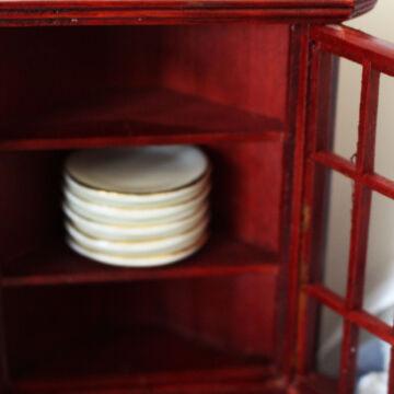 Porcelán tányér szett - babaház dekor