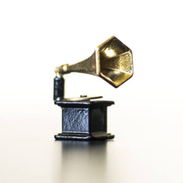 Gramofon - babaház kellék