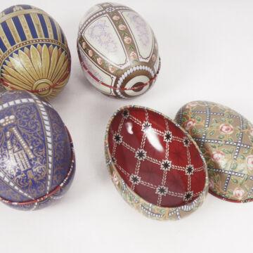 Nyitható Fabergé lemeztojások