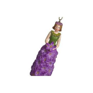 Jácintlány lilàban - függeszthető, àllítható dekor