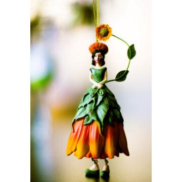 Napraforgó  viráglány  függeszthető, àllítható dekor