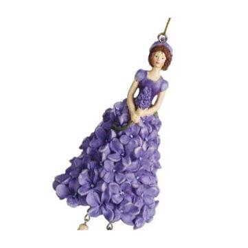 Lilaorgona viráglány - függeszthető, állítható dekor
